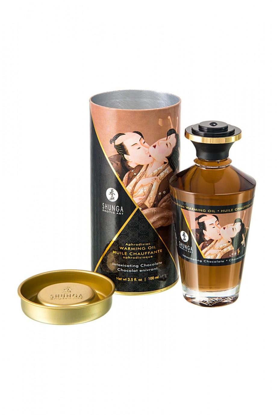 Масло для массажа Shunga Шоколад, разогревающее, 100 мл