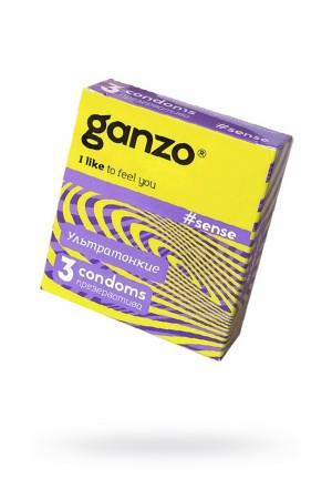 Презервативы Ganzo Sense, ультратонкие, 3 шт