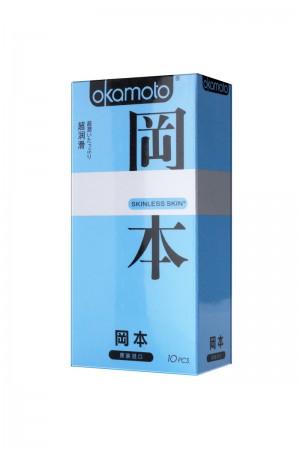 Презервативы Окамото Skinless Skin Super lubricative № 10, с двойной смазкой