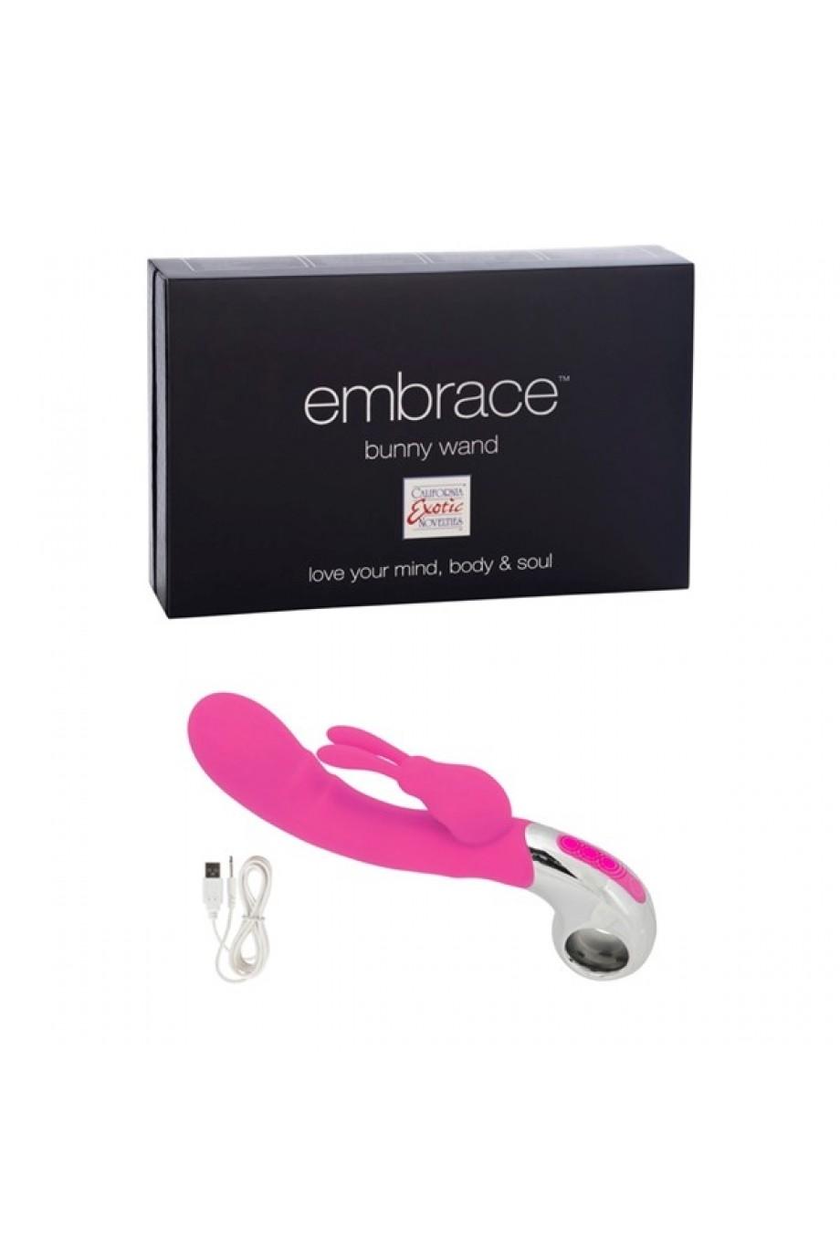 Вибратор Embrace Bunny Wand - Pink розовый