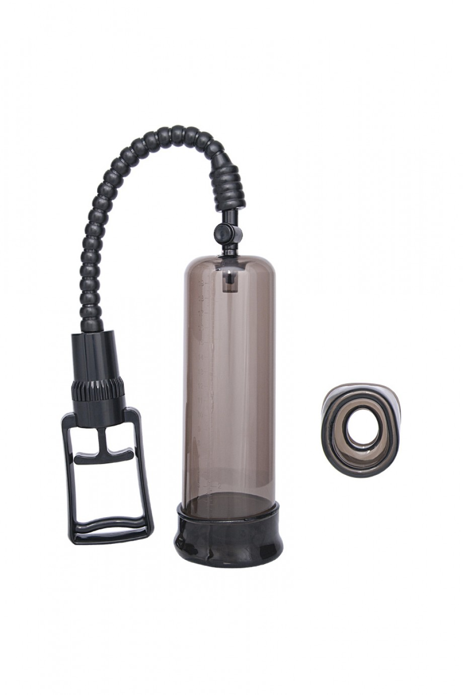 Вакуумная помпа Sexus Men Training, вакуумная, механическая, ABS пластик, чёрный, 22 см
