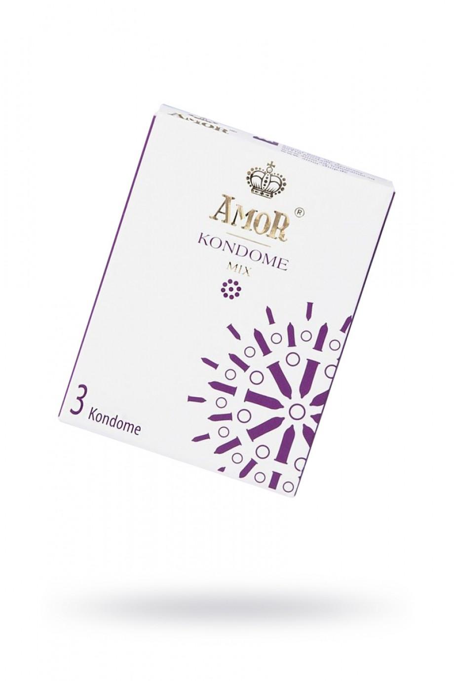 Презервативы AMOR Микс (MIX), 3 шт