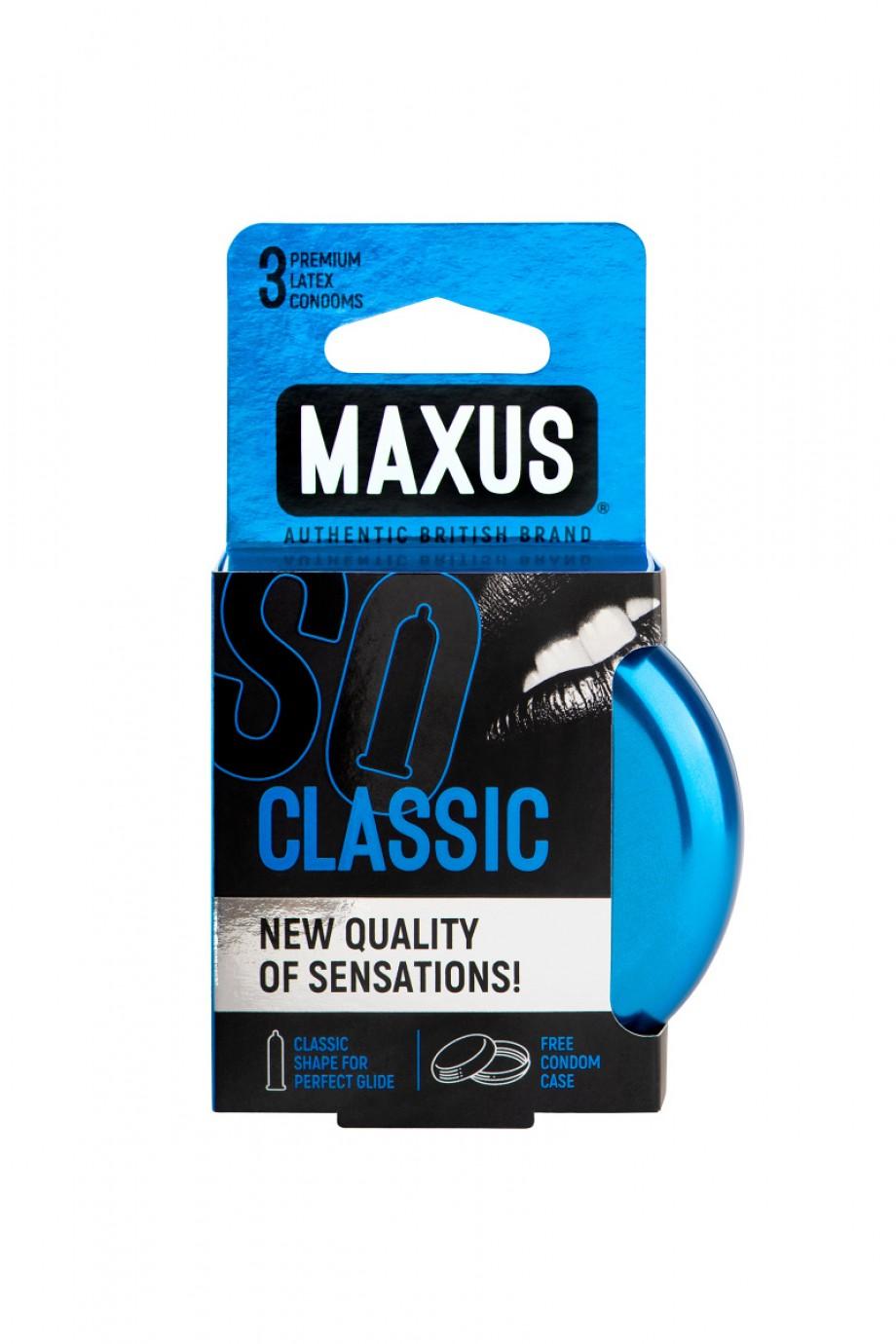Презервативы MAXUS Классические в железном кейсе