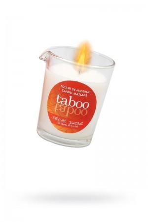Массажное аромамасло RUF Taboo Pêche sucre, с афродизиаками для женщин, сладкий персик, 60 г