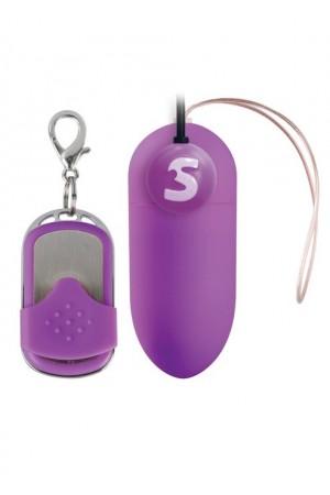 Виброяйцо Rechargeable Vibrating egg фиолетовое с пультом ДУ
