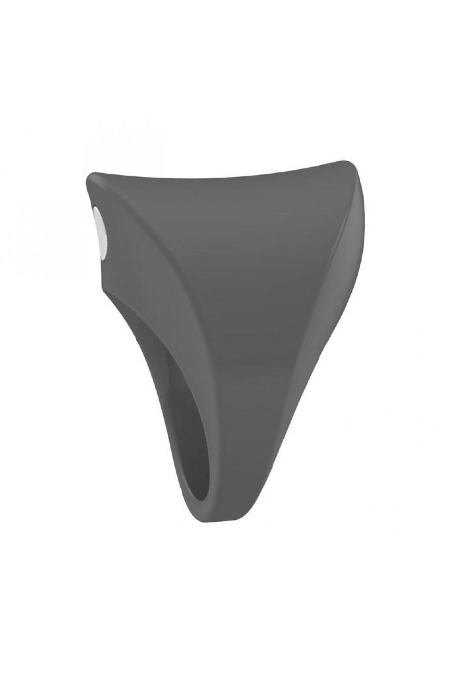 Эрекционное кольцо OVO закругленной формы с ультрасильной вибрацией, силиконовое, серое