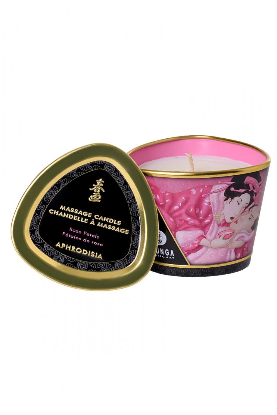 Массажное аромамасло Shunga Aphrodisia с ароматом розы, 170 мл