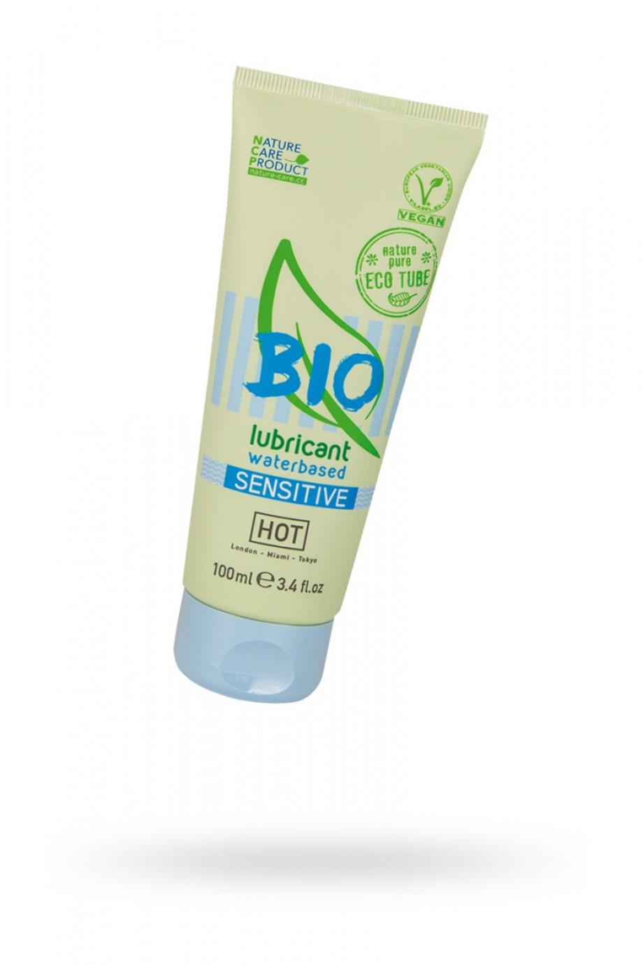 Лубрикант HOT Bio Sensitive на водной основе, для чувствительной кожи, 100 мл