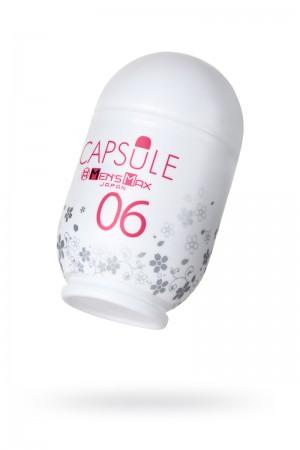 Мастурбатор, CAPSULE 06, Sakura, MensMax, TPE, белый, 8 см