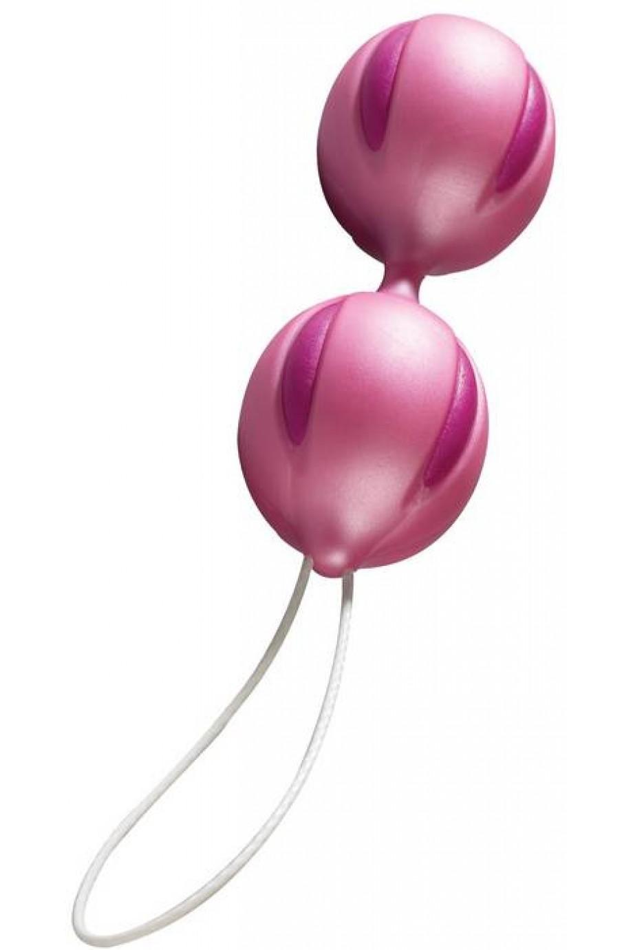Шарики вагинальные, розовые, силикон