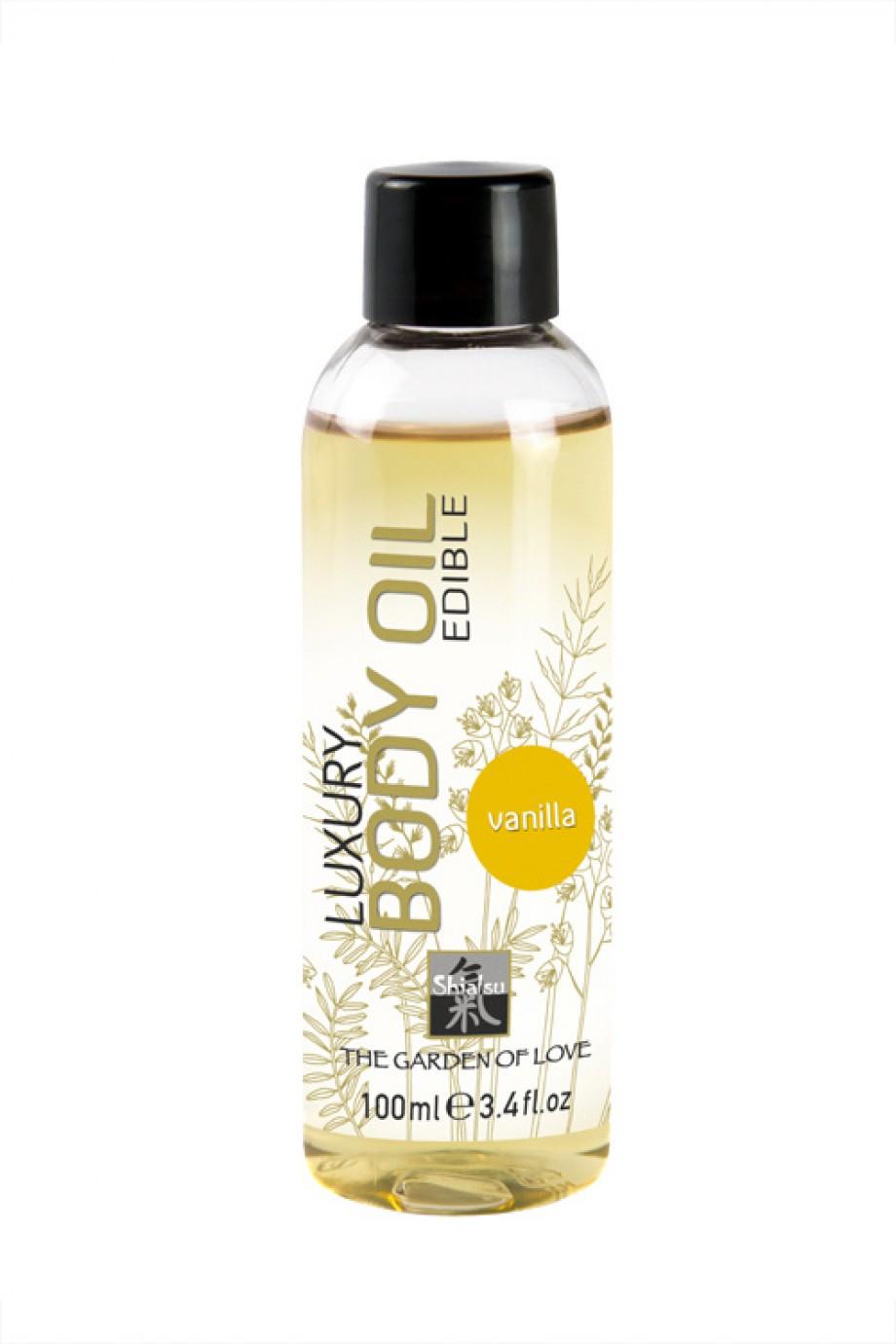 Съедобное масло для тела с ароматом ванили 100 мл