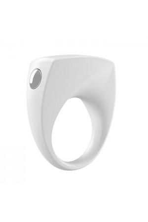 Эрекционное кольцо OVO современной формы с ультрасильной вибрацией, влагостойкое, силиконовое, белое
