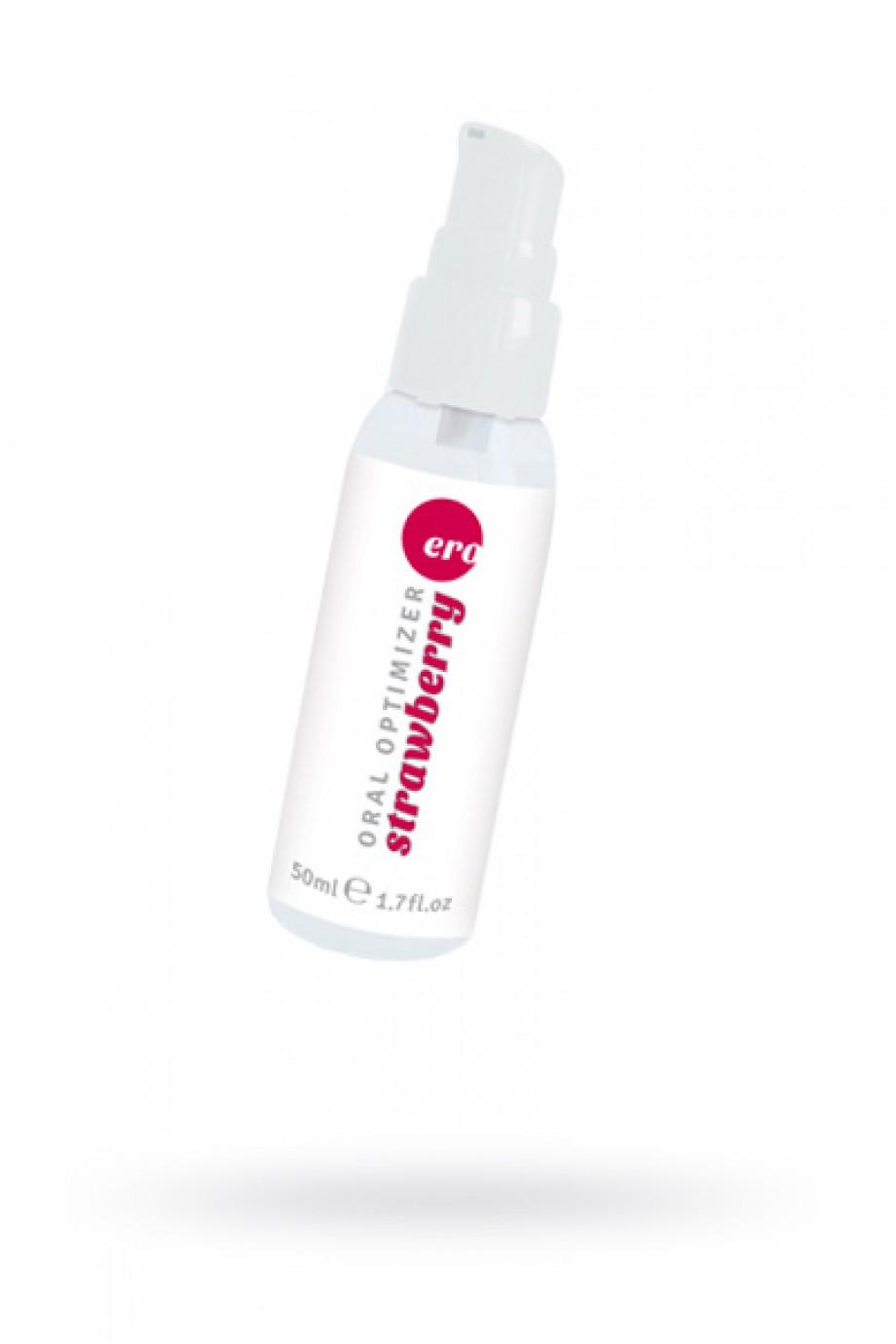 Съедобный гель Gel optimizer для орального секса, с охлаждающим эффектом, со вкусом клубники, 50 мл