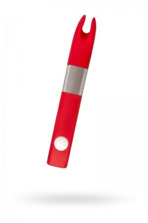 Вибратор Qvibry Memo, QM2, клиторальный, красный
