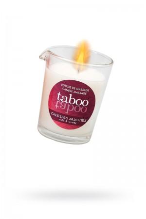 Массажное аромамасло RUF Taboo Сaresses ardentes, с афродизиаками для мужчин, древесный аромат, 60 г
