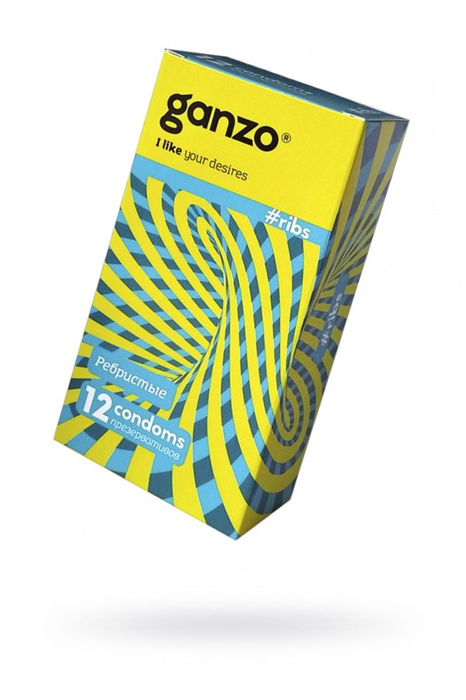 Презервативы Ganzo Ribs № 12, ребристые