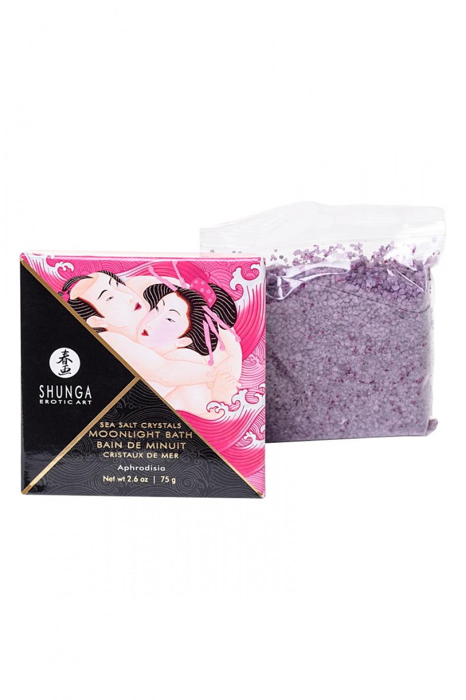 Соль Мёртвого моря Shunga Moonlight Bath Aphrodisia с лечебными свойствами, 75 г