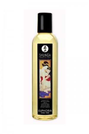 Массажное масло Shunga Флора, возбуждающее, натуральное, 250 мл