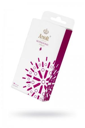 Презервативы AMOR Фрукт (FRUIT), 15 шт