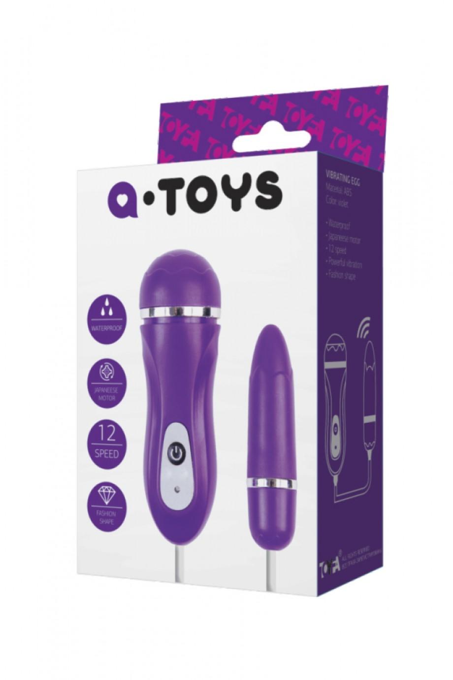 Виброяйцо A-Toys by TOYFA, фиолетовый