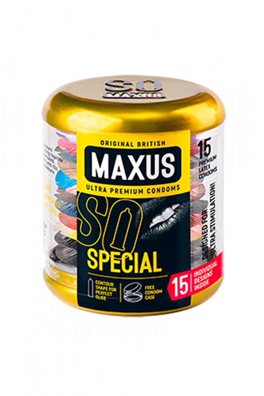 Презервативы MAXUS Точечно-ребристые в железном кейсе, 15 шт