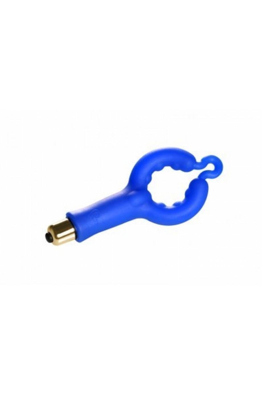Виброкольцо Rocks Off Cock Ring Blue, 7 режимов вибрации, силиконовое, синее
