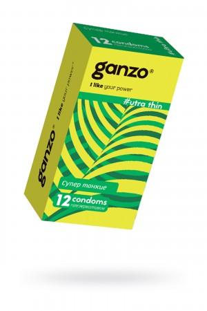 Презервативы Ganzo Ultra thine № 12, ультра тонкие