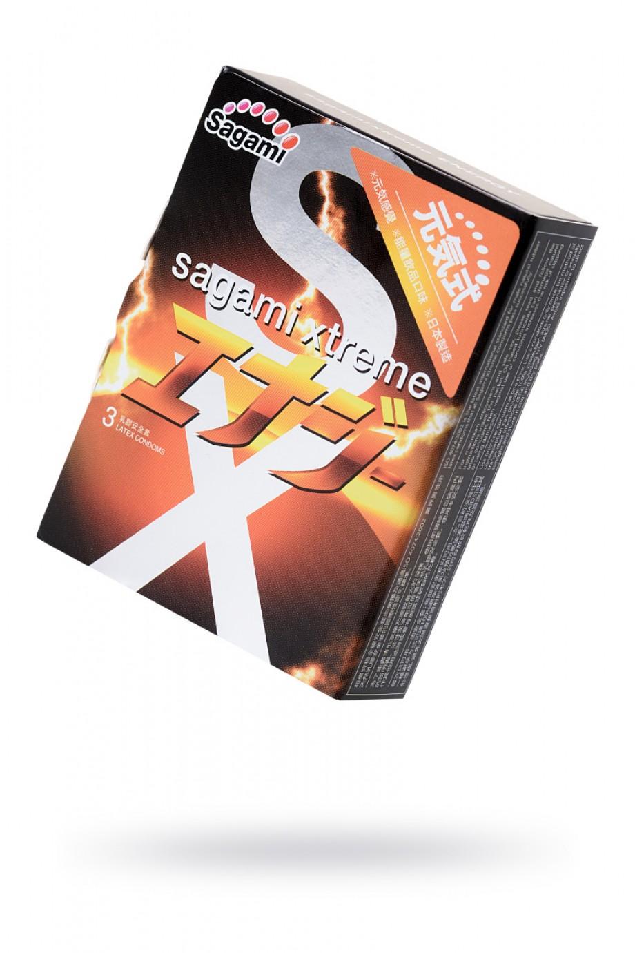 Презервативы латексные Sagami Xtreme Energy, 3 шт