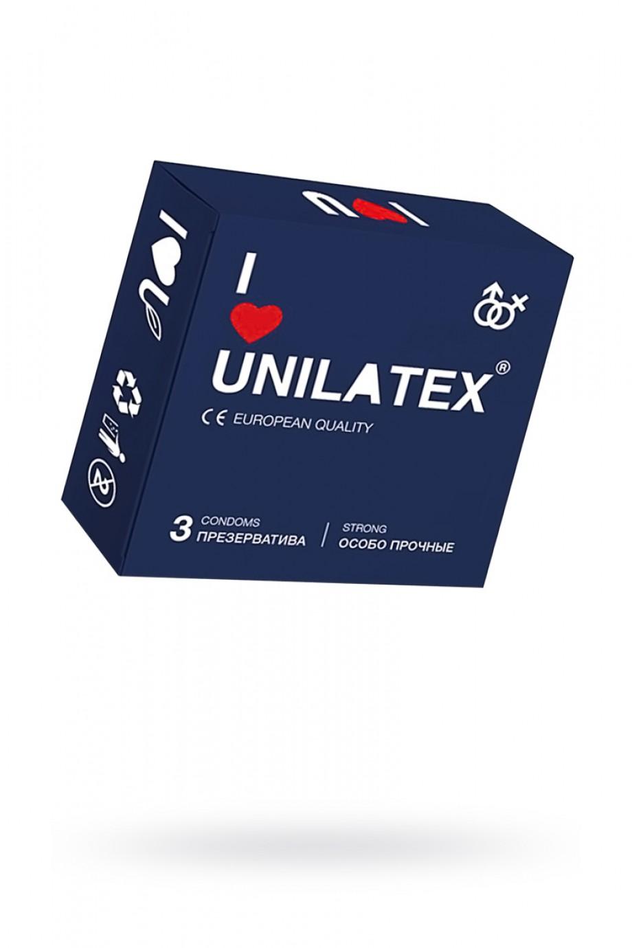 Презервативы Unilatex Extra Strong, 3 шт, гладкие