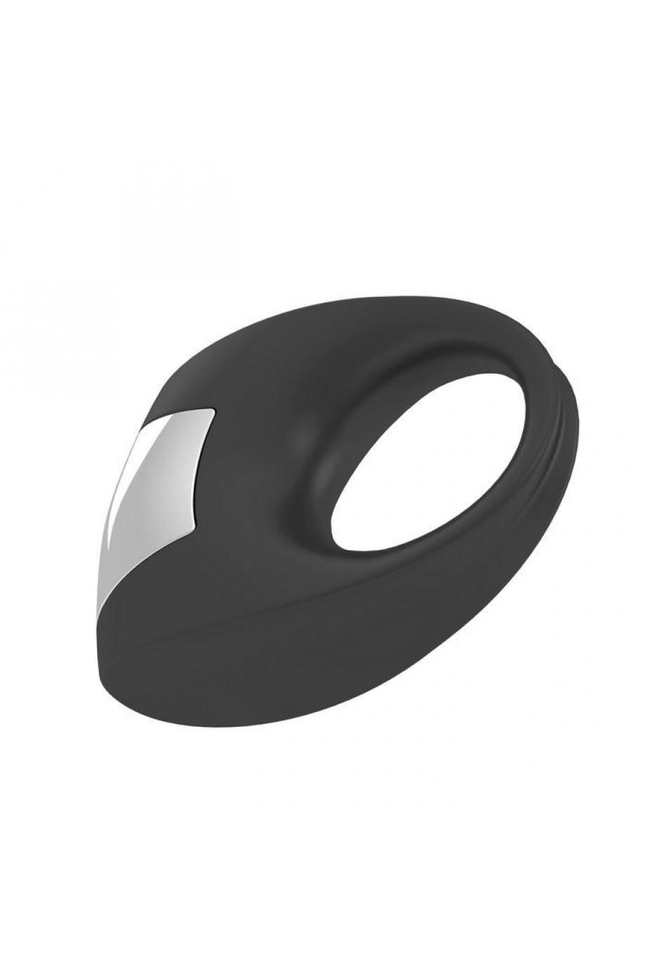 Эрекционное кольцо OVO с удобной кнопкой включения и сильной вибрацией, силиконовое, черное