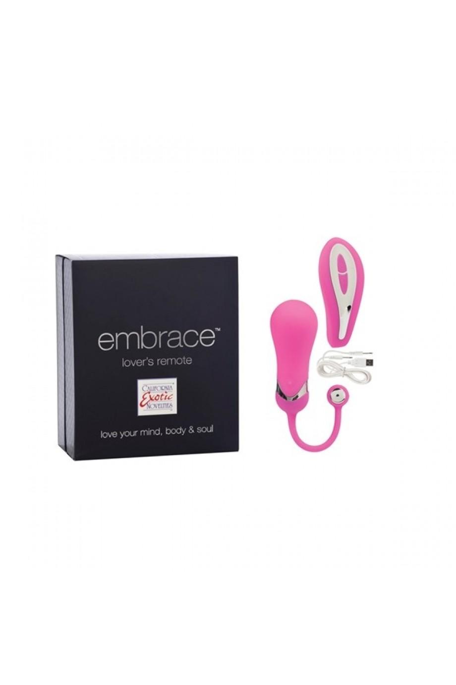 Вибратор Embrace Lovers Remote - Pink розовый