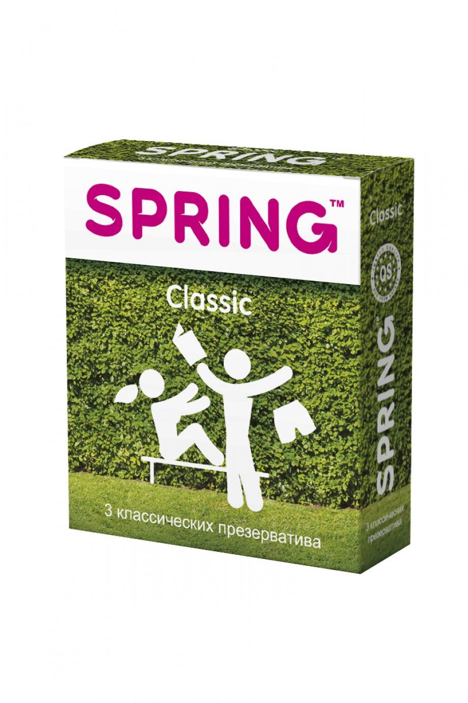 Презервативы Spring Classic, классические, 3 шт