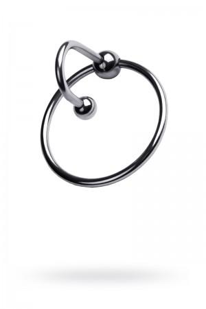 Эрекционное кольцо Metal by TOYFA, с уретральным стоппером, Ø4 см