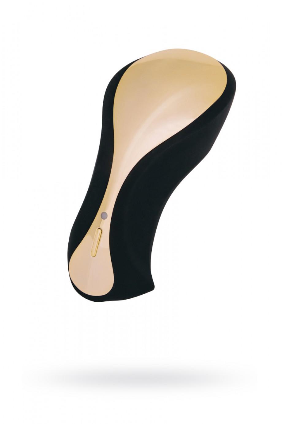 Вибратор с клиторальным стимулятором WANAME D-SPLASH Surf, Силикон, Чёрный, 10,8 см