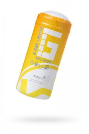 Мастурбатор, G-CUP, MensMax, TPE, белый, 15.5 см
