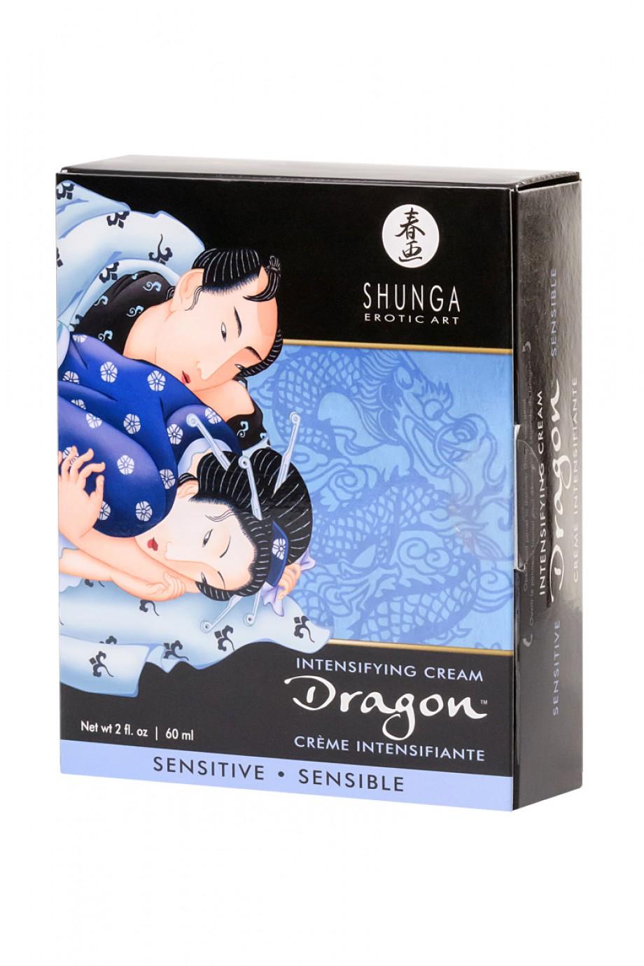 Усиливающий крем для пар Shunga Dragon Sensitive, эффект «ледяного огня», 60 мл