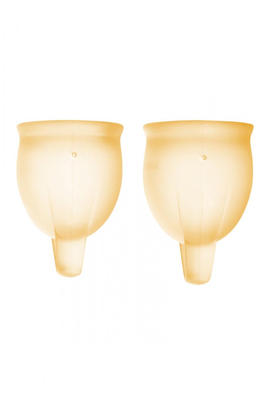 Менструальная чаша Satisfyer Feel Confident, 2 шт в наборе, оранжевый