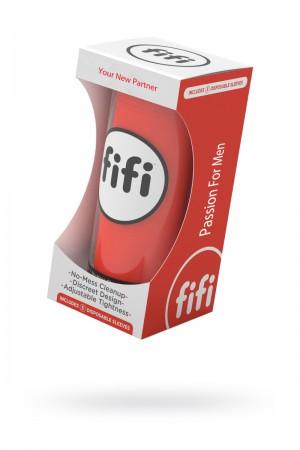 Мастурбатор FIFI MALE, текстиль, красный