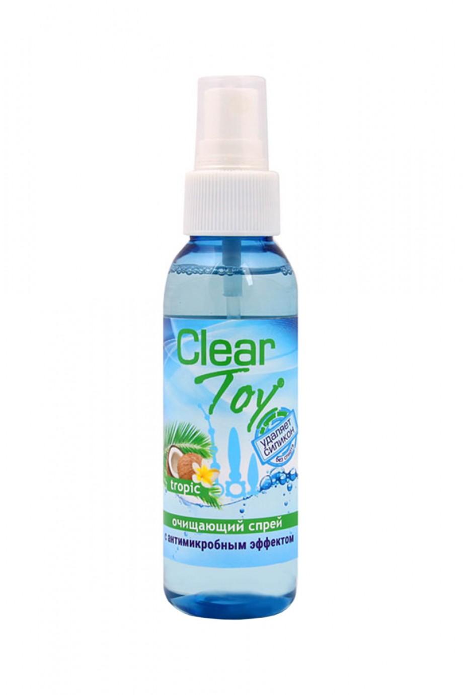 Очищающий спрей CLEAR TOY TROPIC с антимикробным эффектом, 100 мл